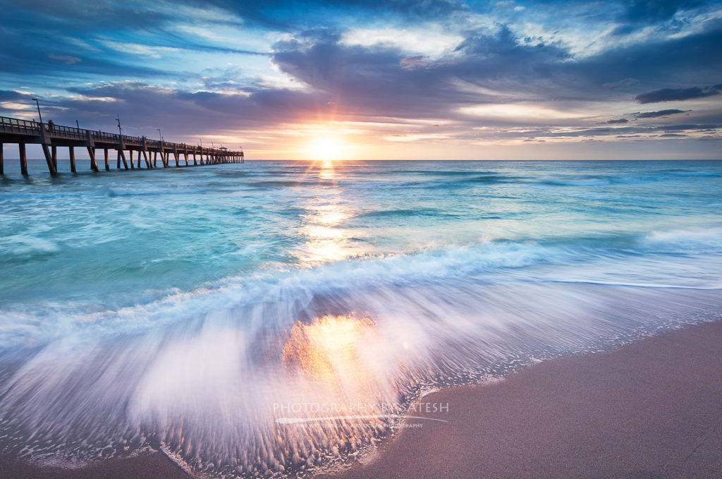 Florida landscape photography Dania Beach pier
