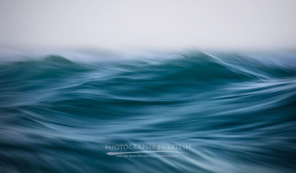 abstract ocean wave art