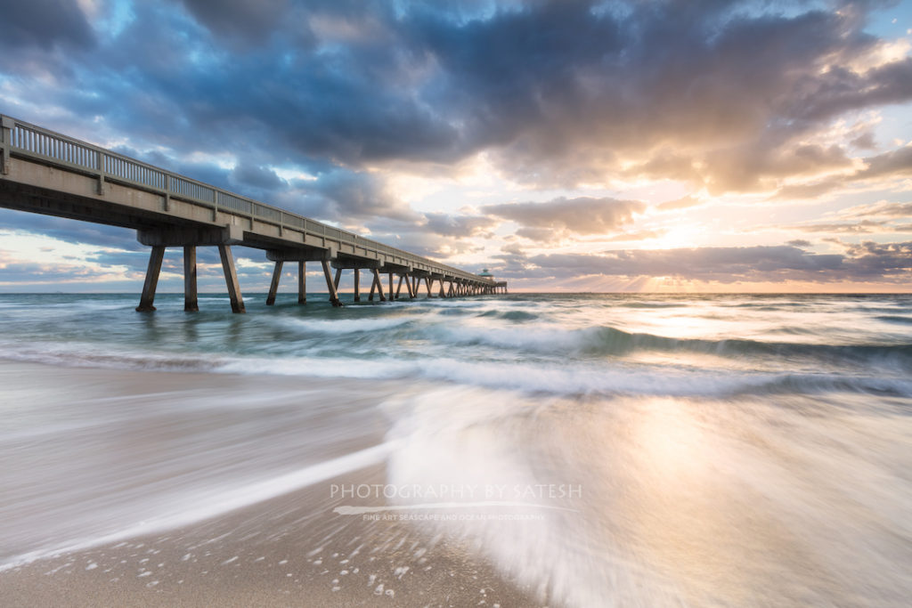Florida landscape photography Deerfield Beach Pier at sunrise
